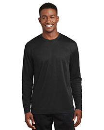 Sport-Tek K368 Men  Dri Mesh Long Sleeve T Shirt