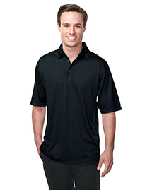 Tri-Mountain K411 Men 100% Polyester Knit S/S Golf Shirt