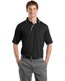 Sport-Tek K467 Mens Dri Mesh Sport Shirt With Striped Collar at bigntallapparel