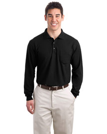 Port Authority K500LSP Men Silk Touch Long Sleeve Polo Sport Shirt With Pocket