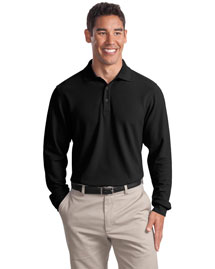 Port Authority Signature K800LS Men Long Sleeve Ez Cotton Pique Sport Shirt