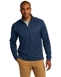 Port Authority K805 Men Heavyweight Vertical Texture 1/4zip Pullover