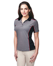 Tri-Mountain Kl340 Women 100% Polyester Y.D. Knit S/S Golf Shirt