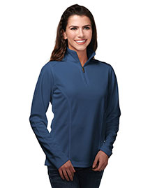 Tri-Mountain KL628 Women 100% Polyester Knit 1/4 Zip Pullover W/Tmp Puller at bigntallapparel