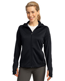 Sport-Tek L248 Ladies Tech Fleece Full-Zip Hooded Jacket at bigntallapparel