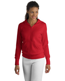 Sport-Tek L265 Ladies Full-Zip Hooded Fleece Jacket at bigntallapparel