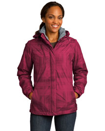 Port Authority L320 Women Brushstroke Print Insulated Jacket