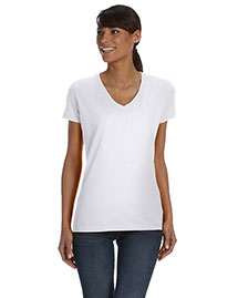 Fruit of the Loom L39VR Women Wo5 Oz., 100% Heavy Cotton Hd V-Neck T-Shirt