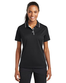 Sport-Tek L467 Ladies Dri-Mesh Polo With Tipped Collar And Piping at bigntallapparel