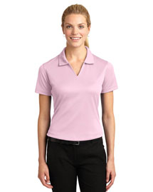 Sport-Tek L469 Ladies Dri-Mesh V-Neck Polo at bigntallapparel
