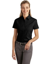 Port Authority L507 Ladies Short Sleeve Easy Care, Soil Resistant Shirt at bigntallapparel