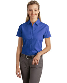 Port Authority L507 Women WoShort Sleeve Easy Care, Soil Resistant Shirt