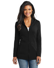 Port Authority L519 Ladies Modern Stretch Cotton Full-Zip Jacket at bigntallapparel
