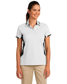 Port Authority L524 Women Dry Zone? Colorblock Ottoman Polo