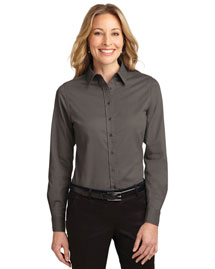 Port Authority L608 Women Long Sleeve Easy Care Shirt at bigntallapparel