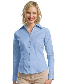 Port Authority L628 Women Open Neck Blouse