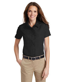 Port Authority L633 Women Short Sleeve Value Poplin Shirt