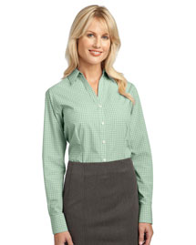 Port Authority L639 Women Plaid Pattern Easy Care Shirt