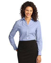 Port Authority L640 Women WoCrosshatch Easy Care Shirt