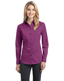 Port Authority L646 Women Stretch Poplin Shirt