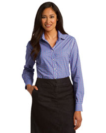 Port Authority L654 Women Long Sleeve Gingham Easy Care Shirt