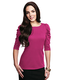 Tri-Mountain Lb132 Women 3/4 Sleeve Scoop Neck Pullover
