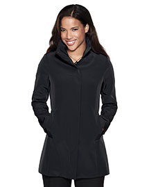 Tri-Mountain LB2988 Women 100% Polyester Woven Water Resistent Trench Coat Lined With at bigntallapparel