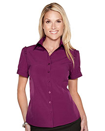 Tri-Mountain LB752 Women Short Sleeve Shirt W/Ruffle At Shouder Along Arm