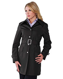 Tri-Mountain Lb9013 Women 100% Polyester Hooded Trench Coat