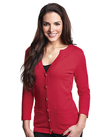 Tri-Mountain LB929 Women 3/4 Sleeve Sweater Cardigan