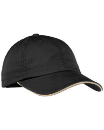 Port Authority LC830 Ladies Sandwich Bill Cap With Striped Closure at bigntallapparel