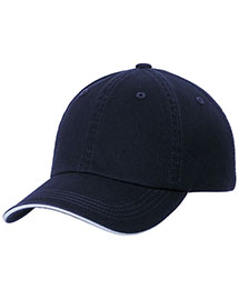 Port Authority C830SAN Sandwich Bill Cap With Striped Closure at bigntallapparel