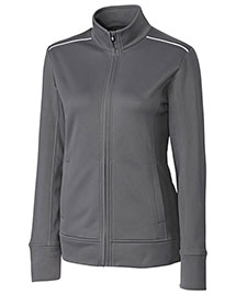 Cutter & Buck LCK02571 Women Cb Weathertec Ridge Full Zip at bigntallapparel