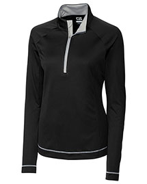 Cutter & Buck Lck02592 Women Cb Drytec Long Sleeve Evolve Half Zip