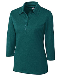 Cutter & Buck Lck02593 Women Cb Drytec 3/4 Sleeve Chelan Polo