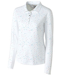 Cutter & Buck Lck08689  Long Sleeve Bree Printed Polo