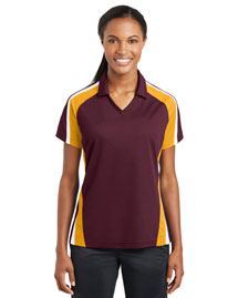 Sport-Tek LST654 Ladies Tricolor Micropique Sport-Wick Polo at bigntallapparel