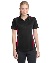 Sport-Tek LST685 Women Posicharge Micromesh Colorblock Polo