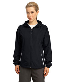Sport-Tek Lst76 Women Colorblock Hooded Jacket