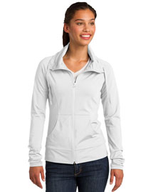 Sport-Tek LST852 Ladies SportWick Stretch FullZip Jacket at bigntallapparel