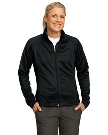 Sport-Tek LST90 Women Tricot Track Jacket at bigntallapparel