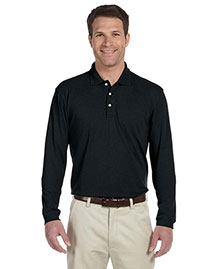 Harriton M265L Men 5 Oz Easy Blend Long Sleeve Polo at bigntallapparel