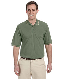 Harriton M270 Men 5.6 Oz. Tipped Easy Blend Polo