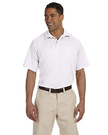 Harriton M374 Men 3.8 Oz. Polytech Mesh Insert Polo