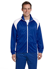 Harriton M390 Men's Tricot Track Jacket at bigntallapparel