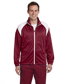 Harriton M390 Men Tricot Track Jacket at bigntallapparel