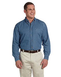 Harriton M550 Men's 6.5 Oz Long Sleeve Denim Shirt