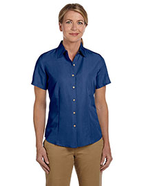 Harriton M560W Ladies' Barbados Textured Camp Shirt at bigntallapparel