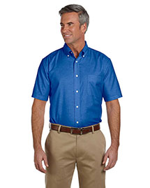 Harriton M600S Men Short Sleeve Oxford With Stain-Release