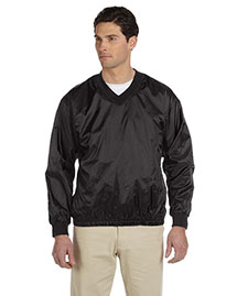 Harriton M720 Mens Athletic V Neck Pullover Jacket at bigntallapparel